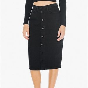 American Apparel Skirts - AMERICAN APPAREL Button front midi